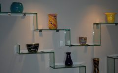 Glass Shelves in Living Room