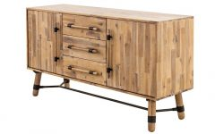 Corrugated Natural 4-drawer Sideboards