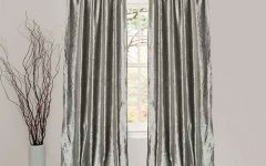 Velvet Dream Silver Curtain Panel Pairs