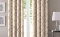 Essentials Almaden Fretwork Printed Grommet Top Curtain Panel Pairs