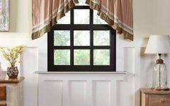 Rod Pocket Cotton Striped Lace Cotton Burlap Kitchen Curtains