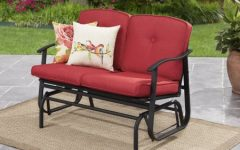 Outdoor Loveseat Gliders with Cushion