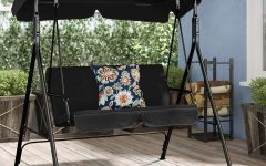 Patio Loveseat Canopy Hammock Porch Swings with Stand