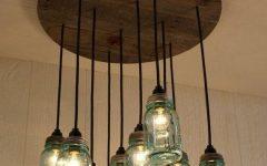 Blue Mason Jar Lights Fixtures