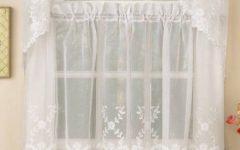 White Micro Striped Semi Sheer Window Curtain Pieces