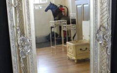 Large Antique Silver Mirrors