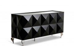 Black Gloss Buffet Sideboard