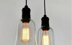 Glass Pendant Lights with Edison Bulbs