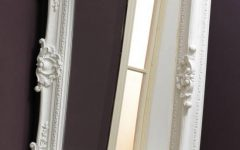 Large White Rococo Mirrors
