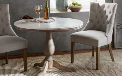 Alexandra Round Marble Pedestal Dining Tables