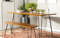 Charcoal Transitional 6-Seating Rectangular Dining Tables