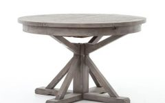 Black Olive Hart Reclaimed Pedestal Extending Dining Tables