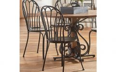 Magnolia Home Peacock Blackened Bronze Metal Side Chairs