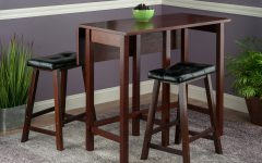 Bettencourt 3 Piece Counter Height Solid Wood Dining Sets