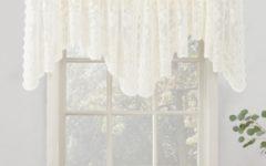 Ivory Micro-striped Semi Sheer Window Curtain Pieces
