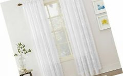 Alison Rod Pocket Lace Window Curtain Panels