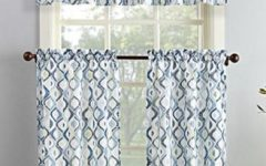 Microfiber 3-piece Kitchen Curtain Valance and Tiers Sets