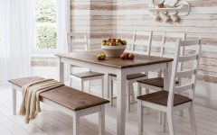 Pine Wood White Dining Chairs