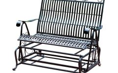 Iron Double Patio Glider Benches