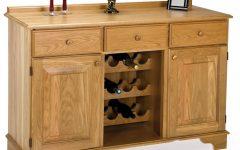 Oak Sideboard With Wine Rack