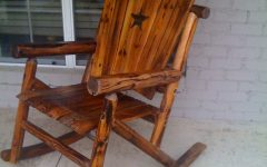 Rocking Chair Outdoor Wooden