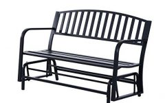 Outdoor Steel Patio Swing Glider Benches