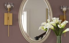 Oval Metallic Accent Mirrors