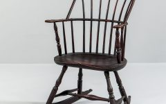 Black Back Windsor Rocking Chairs