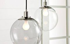 Clear Glass Globe Pendant Light Fixtures