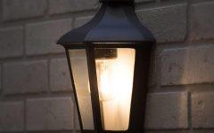 Half Lantern Outside Wall Lights