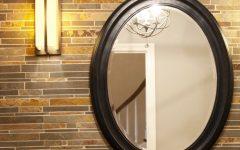 Pfister Oval Wood Wall Mirrors