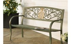 Krystal Ergonomic Metal Garden Benches