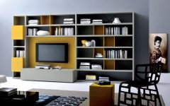 Bookshelf With Tv Space