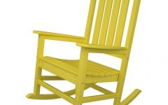 Yellow Outdoor Rocking Chairs