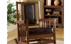 Poppy Mission Espresso Rocking Chairs