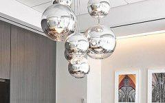 Silver Ball Pendant Lights