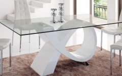Rectangular Glass Top Dining Tables