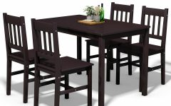 Sundberg 5 Piece Solid Wood Dining Sets