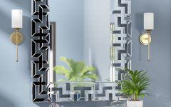 Rectangle Ornate Geometric Wall Mirrors
