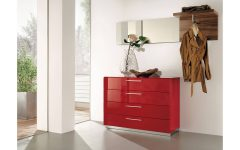 Red High Gloss Sideboard