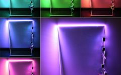 Glass Shelves with Lights