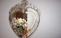 Heart Venetian Mirrors