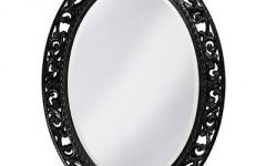 Oval Black Mirrors