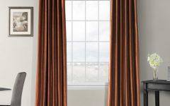 Vintage Textured Faux Dupioni Silk Curtain Panels