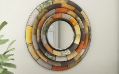 Round Galvanized Metallic Wall Mirrors