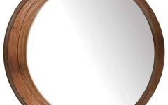 Round Wood Wall Mirrors