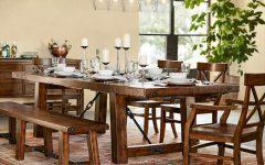 Rustic Mahogany Benchwright Dining Tables