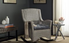 Aria Antique Grey Rocking Chairs