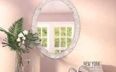 Sajish Oval Crystal Wall Mirrors