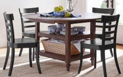 Salvaged Black Shayne Drop-leaf Kitchen Tables